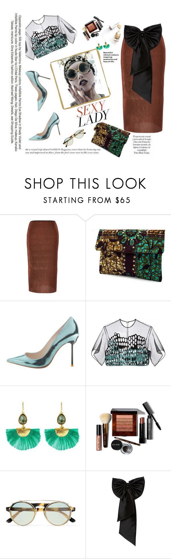 """""""Untitled #1285"""" by caramelmedusa ❤ liked on Polyvore featuring Barbara Casasola, Sophia Webster, Ottoman Hands, Bobbi Brown Cosmetics, Westward Leaning and SemSem"""