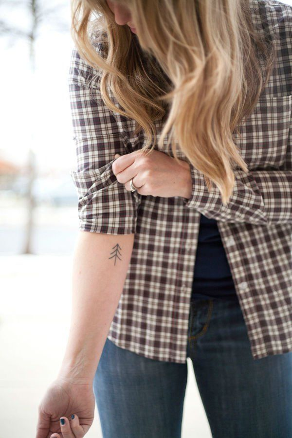 pine tree tattoo | 22 Photos of Mystical Pine Tree Tattoos - Sortra