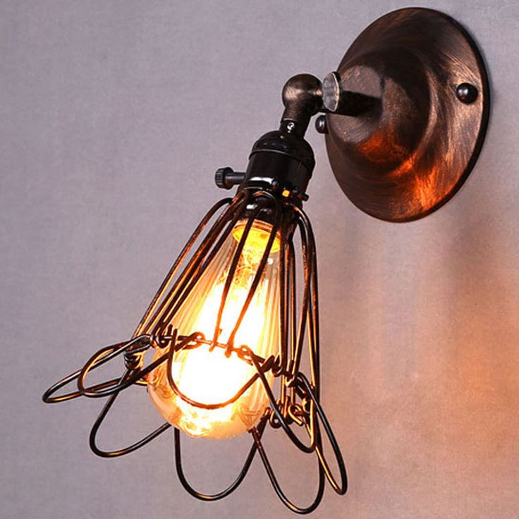 Industrial Vintage Edison Light Wall Sconce Retro Wall Lamp Pendant Lamp Fixture #Unbrand #VintageRetro