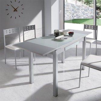 Resultado de imagen para mesa de aluminio con cristal templado en ...