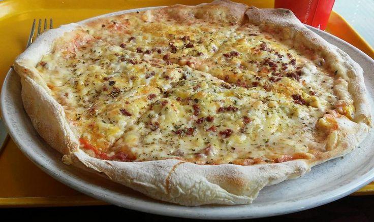 The legendary reindeer pizza at the Cafe-Restaurant Joppari in Pello's centre in Finnish Lapland