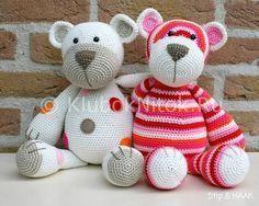 Забавные мишки | Вязание для детей | Вязание спицами и крючком. Схемы вязания.