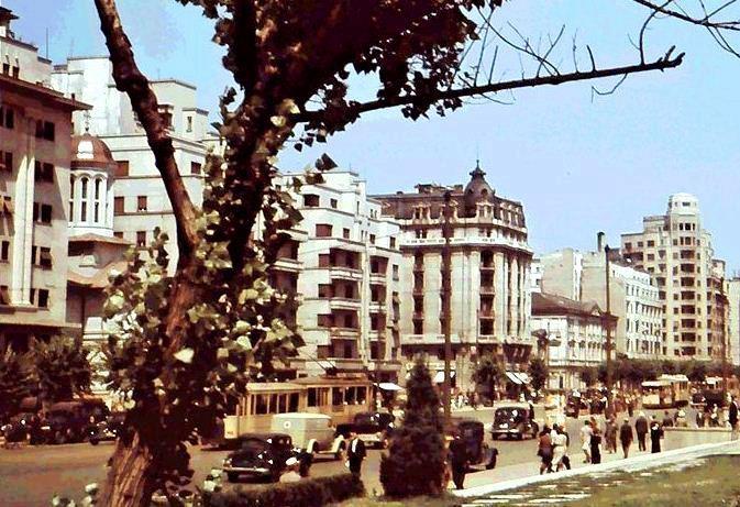 Bucuresti 1941. Bulevardul Bratianu (actual Balcescu)