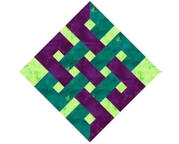 Paper pieced eternity knot - Just ordered this pattern and I'm anxious to try it :)