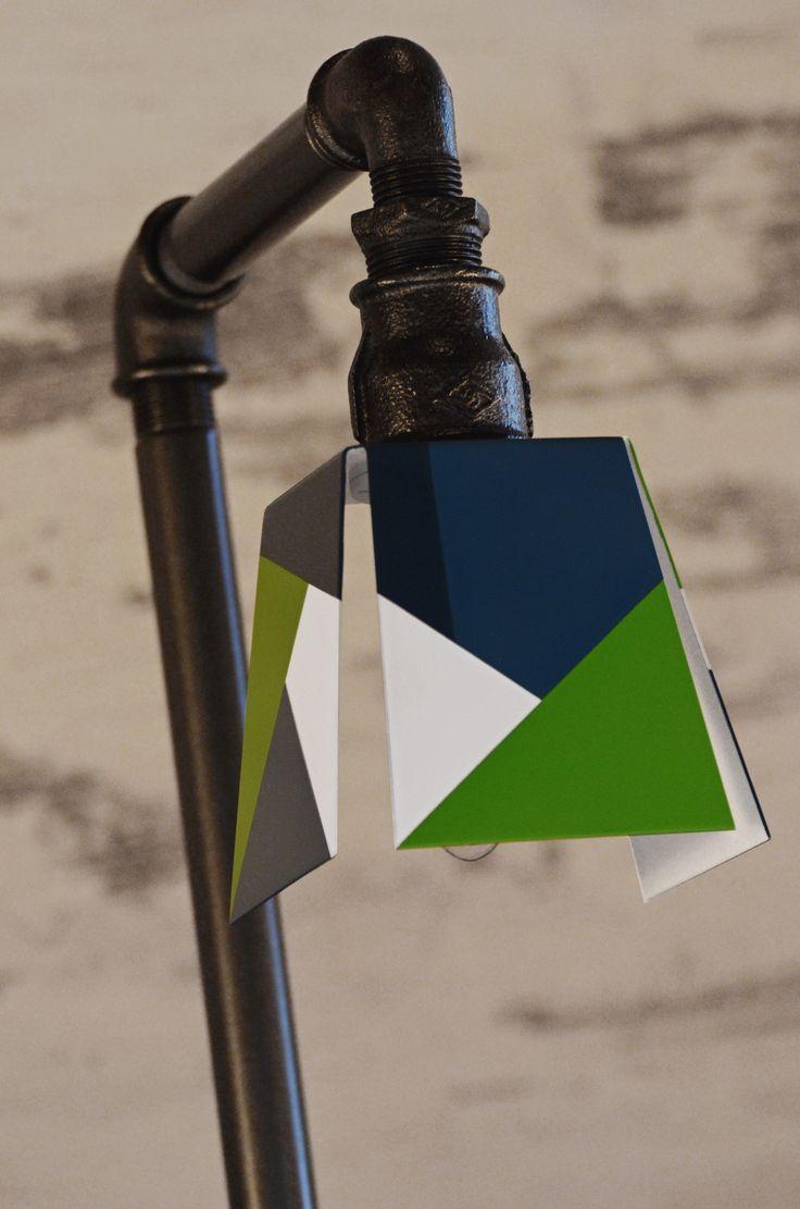 Egyedi festett lámpabura