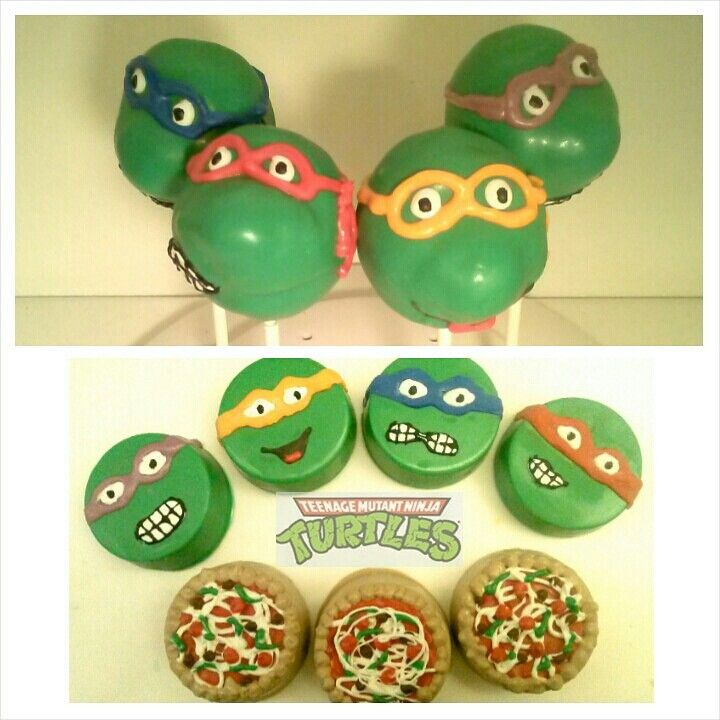 Teenage Mutant Ninja Turtles cake pops and chocolate covered oreos package! By A Taste To Remember. Now available in our Etsy shop! #tmnt #tmnt2014