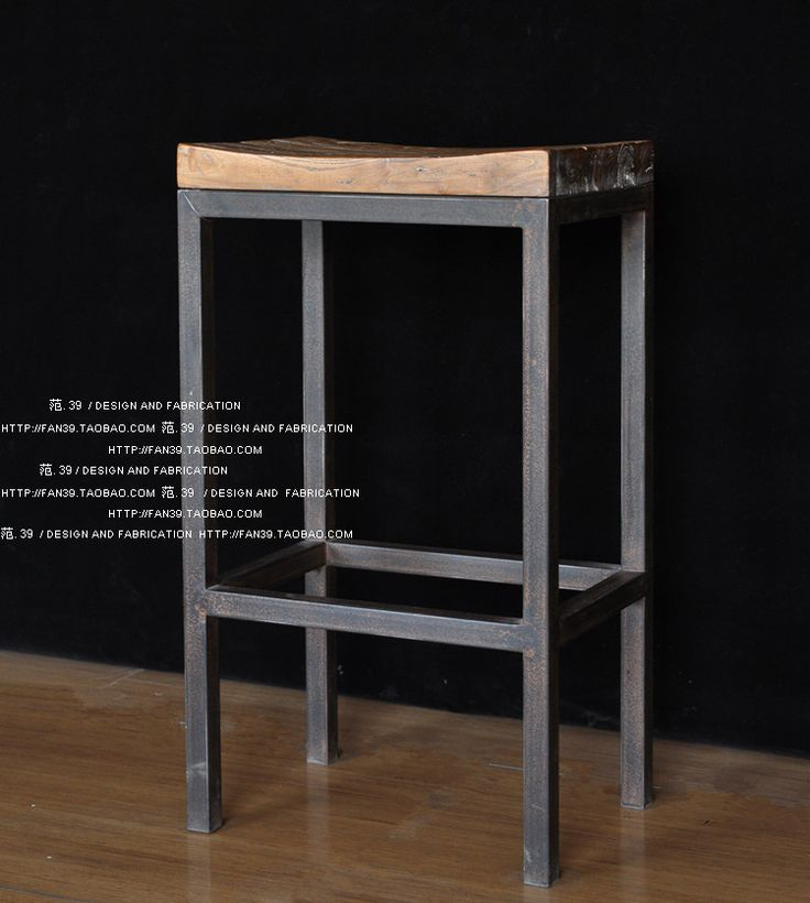 LOFT style retro metal do the old wood barstool bar stool bar stool bar stool high chair dining chair-in Bar Chairs from Furniture on Aliexpress.com | Alibaba Group
