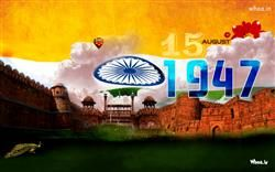 15 August 1947 With Red Fort HD Wallpaper,Independence Day Celebrate HD Wallpaper,Greetings HD Wallpaper,2015 Happy…