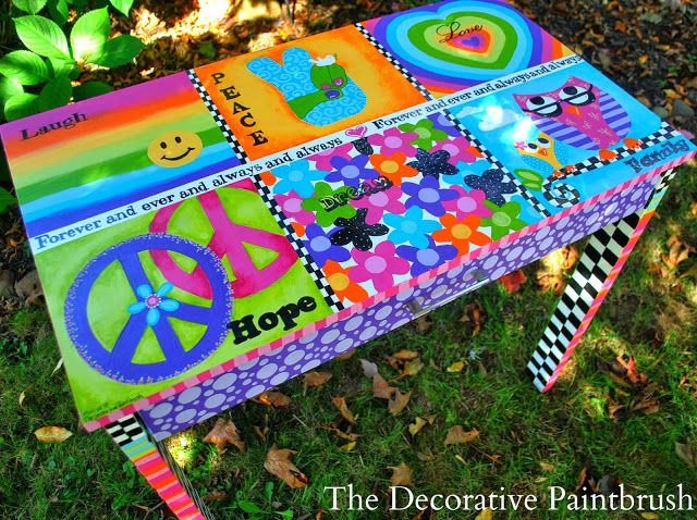 The Decorative Paintbrush, Designs by Mary Mollica: Hippie Love: Peace, Love & Dreaming