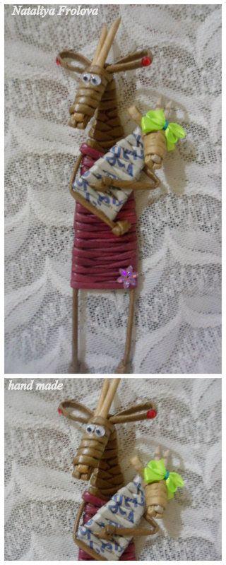 """Козочка """"Мать"""" Плетение из бумаги"""