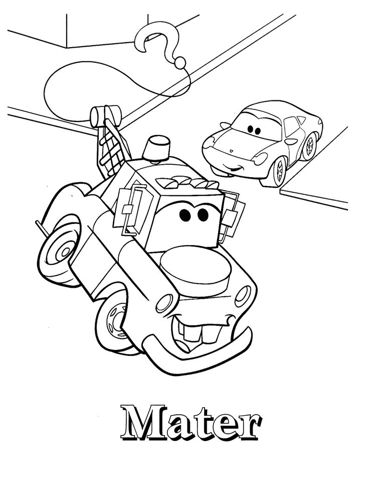 Mater and Sally Carrera coloring page printable | Coloring ...