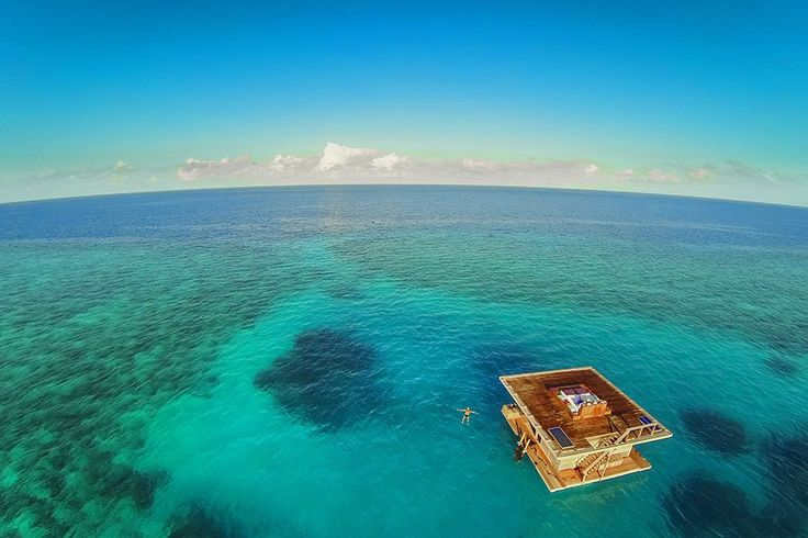 Sleep surrounded by fish and an expanse of crystal-blue sea in the underwater room at the Manta Resort, located off Pemba Island in Tanzania. The structure was created by Sweden's  Genberg Underwater Hotels and features two floors made of local hardwoods and a submerged glass room that offers 360-degree views of a thriving coral reef. $1,500/night; themantaresort.com
