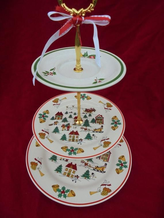 Joy Of Christmas Party Cake Stand 3 Tier Serving Tray Party Cakes Cake Stand 3 Tier Serving Tray