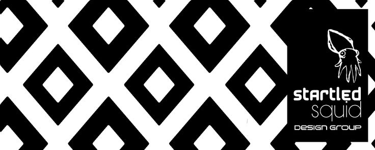 Black and white geometric by Startled Squid Design Group