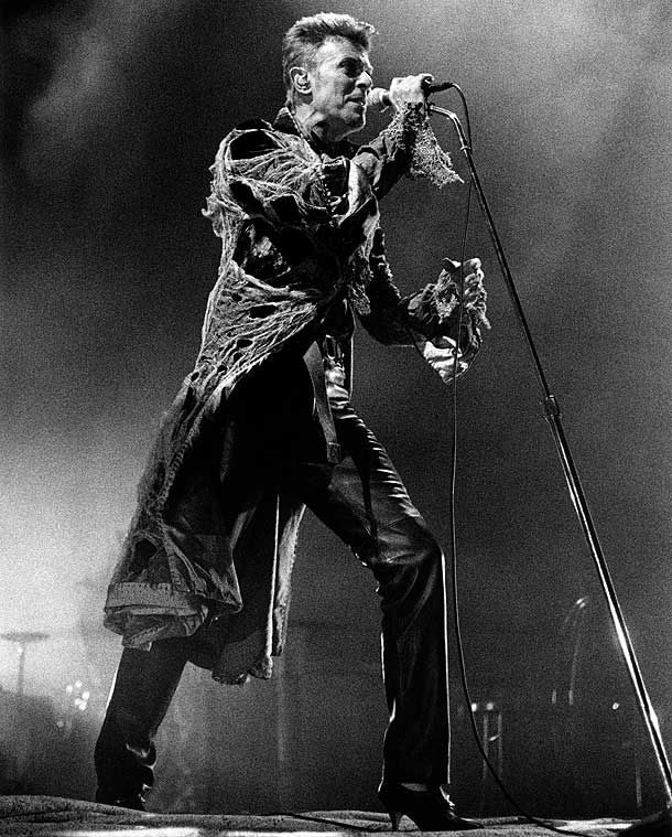 1996: David Bowie performing on stage - Outside tour - Netherlands