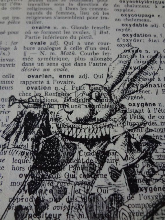 Alice au Pays des Merveilles  Le lapin héraut  impression