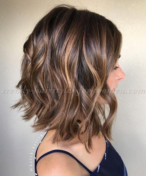 Shoulder Length Wavy Hairstyles Shoulder Length Wavy Bob Hairstyle