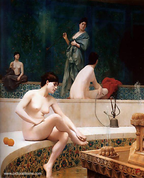 """Jean-Léon Gérôme · """"The Bath"""""""