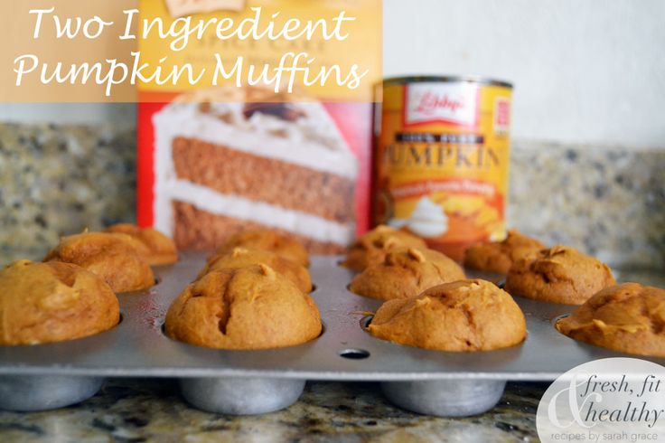 2 ingredient pumpkin muffins. The most simple ever!