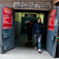 El Sabroso, a five-seat Latin lunch counter in a freight entrance at 37th and 8th