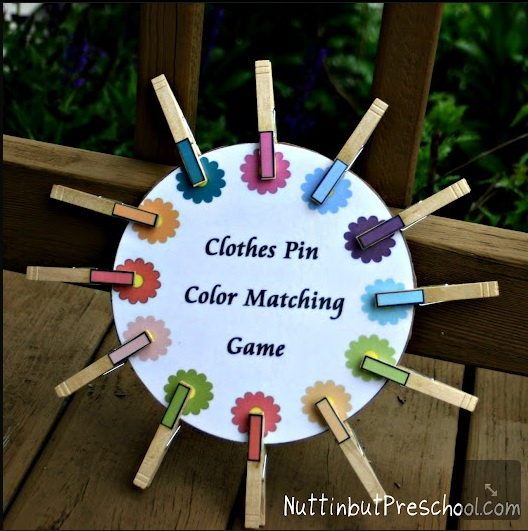 Clothes pin activities for tots - Take with me for Ayla next time I see her.