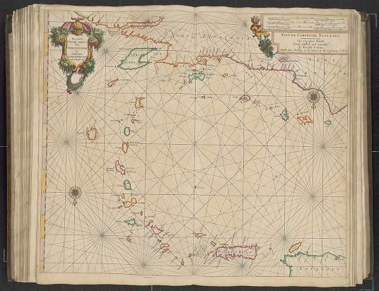 Page  28 Zee-atlas; Colom, Arnold 1656? Albert and Shirley Small Special Collections Library, University of Virginia. http://search.lib.virginia.edu/catalog/uva-lib:2287415/view#openLayer/uva-lib:2380029/6580/8574/2/1/0