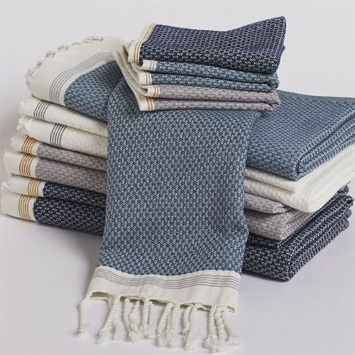 Khadi Organic Cotton Bath Towels Mediterranean Collection From Coyuchi