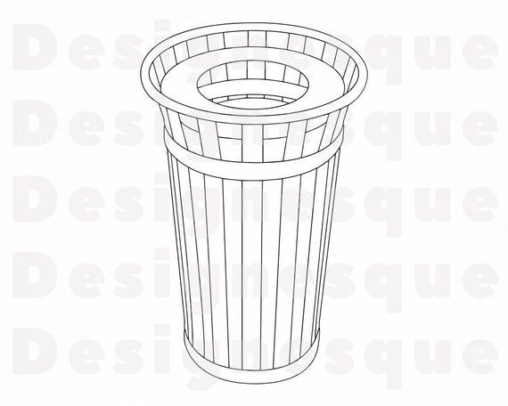 10+ Garbage Can Clipart Black And White