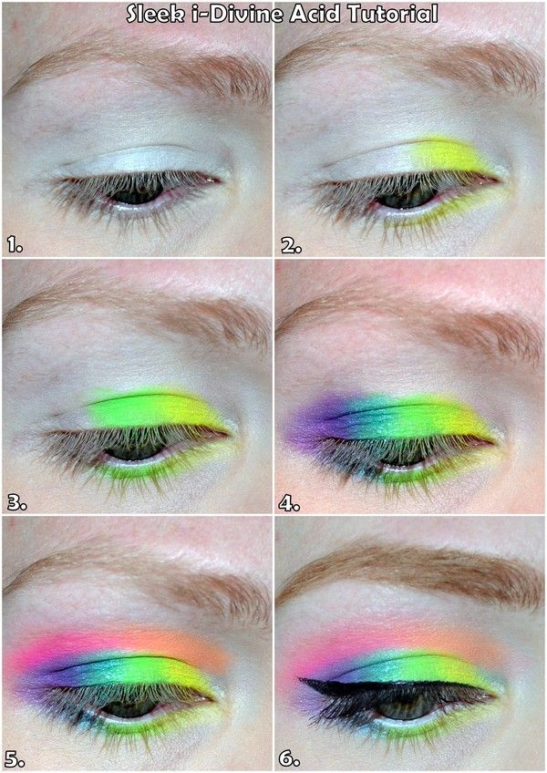 Sleek makeup acid palette tutorial - honi