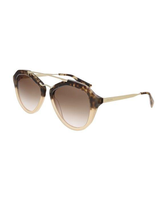 PR 12QS ROZ0A6 Aviator  Havana Gradient  Sunglasses