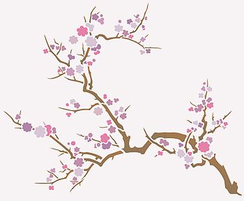 Japanese Cherry Blossom Tree Stencil Bing Images