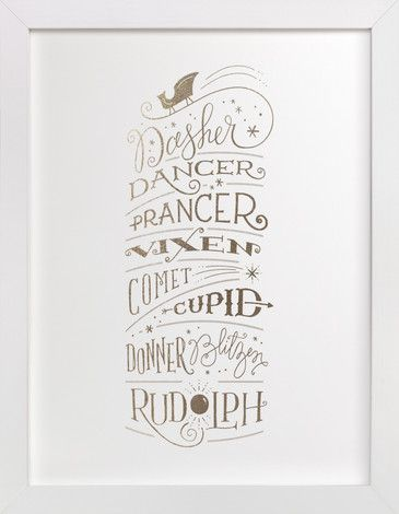 Reindeer Names by Jennifer Wick at minted.com