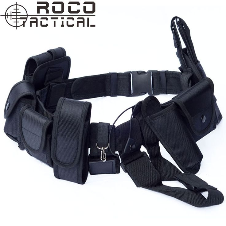10 in 1 Police Duty Belt Multifunctional Traffic Patrol Belt With Pistol Holster Mag Pouch EMS Security Tactical Belt Black