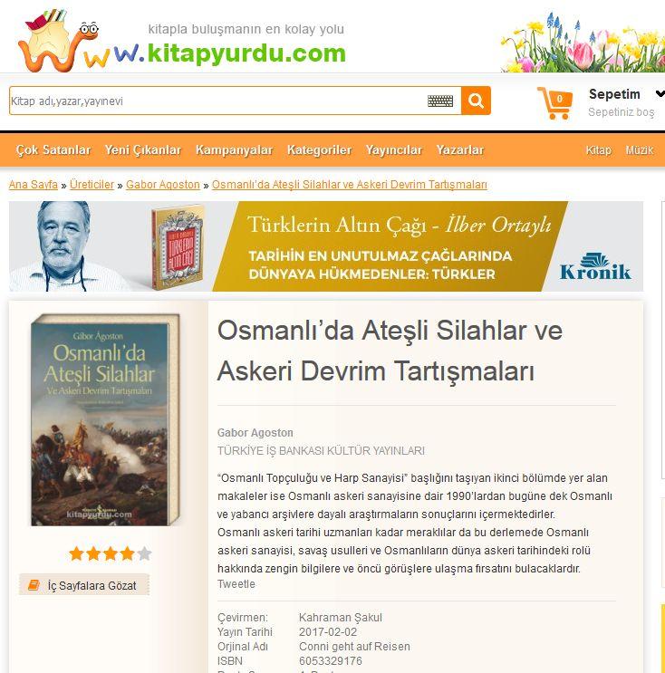 KİTAP TAVSİYESİ : Osmanlı'da Ateşli Silahlar ve Askeri Devrim Ta rtışmaları