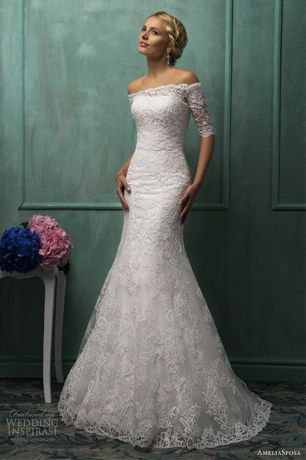 AmeliaSposa 2014 Wedding Dresses, love shoulders..