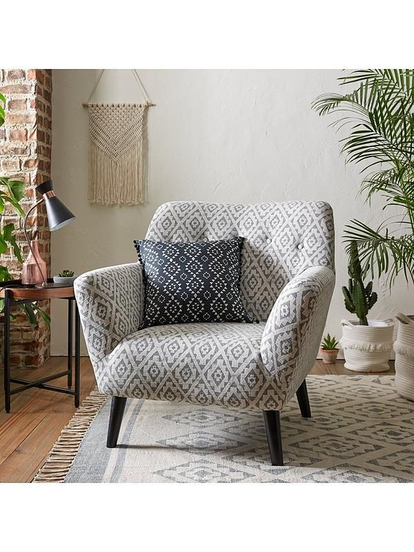 Ideal Home Fabric Echota Accent Chair With Images Arm Chairs