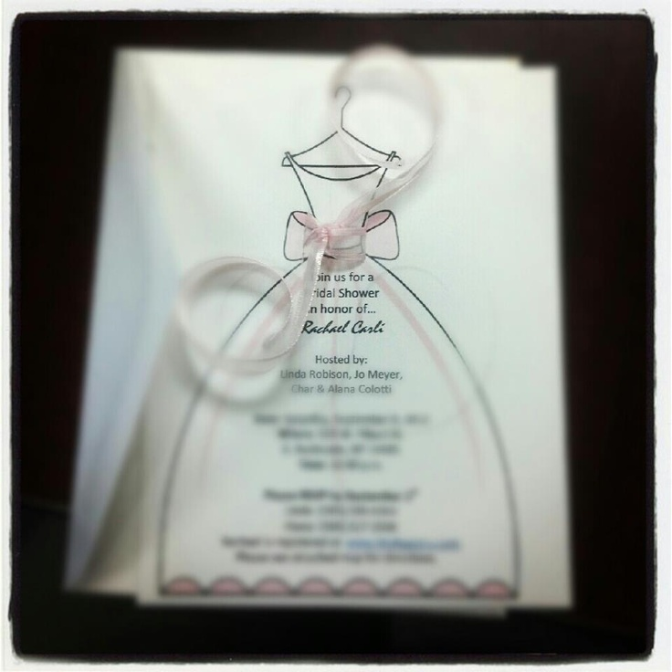 Bridal Shower Gift For Future Sister In Law : My homemade invitations to my future sister-in-laws bridal shower.