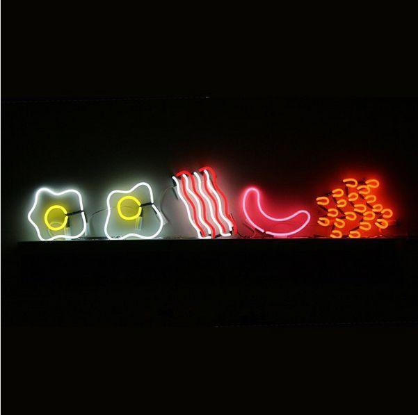 Neon breakfast by Anna Lomax.   https://twitter.com/annalomax/status/461826776516534272