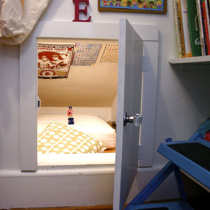 "Small door would be fun for ""secret passage"" between kids' rooms."