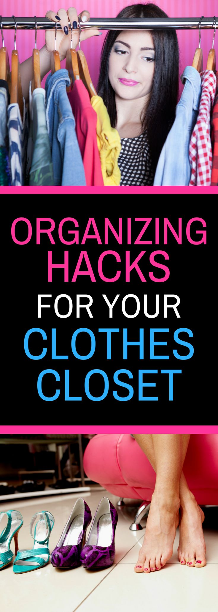 Organizing Hacks for Your Clothes Closet - Keep your clothes closet neat and tidy with these neat tips.  Spring clean your closet.