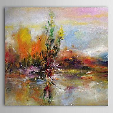 Handgeschilderde Abstract Eén paneel Canvas Hang-geschilderd olieverfschilderij For Huisdecoratie – EUR € 57.57