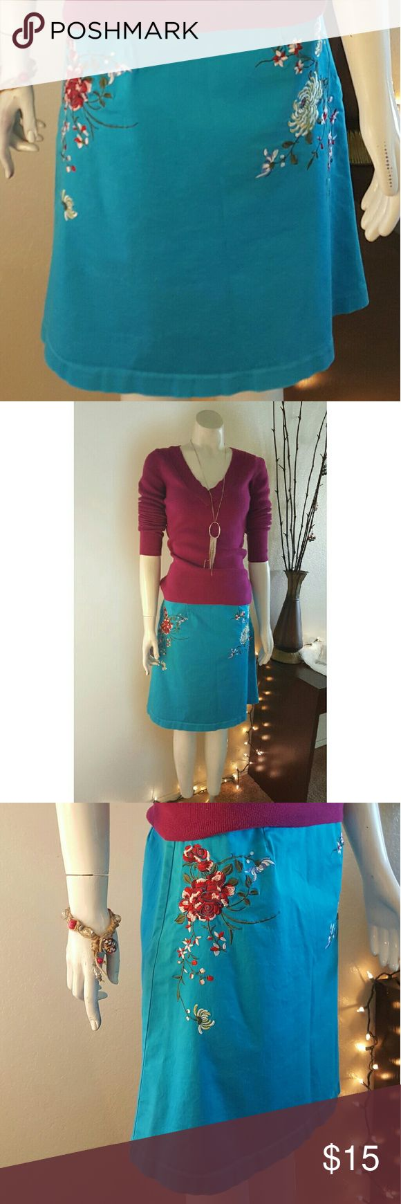 I just added this listing on Poshmark: Autograph New York Turquoise Blue Cotton Skirt. #shopmycloset #poshmark #fashion #shopping #style #forsale #Autograph New York #Dresses & Skirts