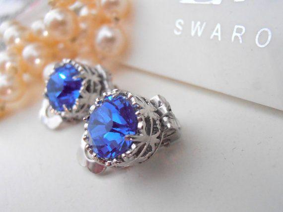 Clip On Earrings Swarovski By Parisijewelrydesigns Etsy