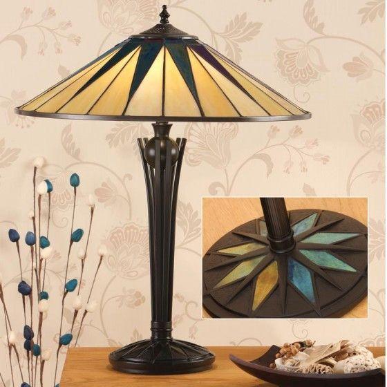 DARK STAR LARGE TIFFANY STYLE TABLE LAMP