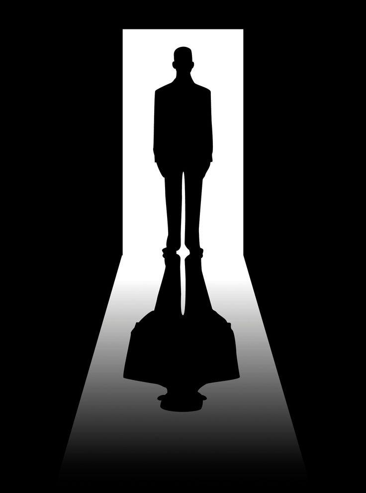 Door Man Shadow