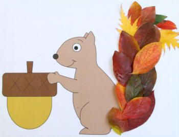 Plakboek: Leaf squirrel paper craft