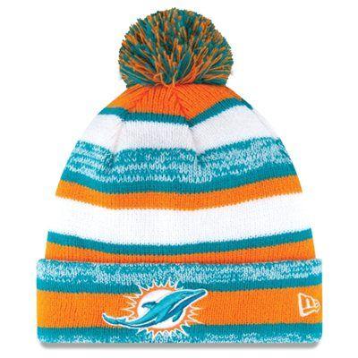 Miami Dolphins New Era On-Field Sport Sideline Cuffed Knit Hat – Orange