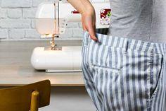 Tutorial con foto e spiegazioni per imparare a stringere i pantaloni in vita di una o due taglie. Sistema pratico e veloce adatto anche alle principianti.