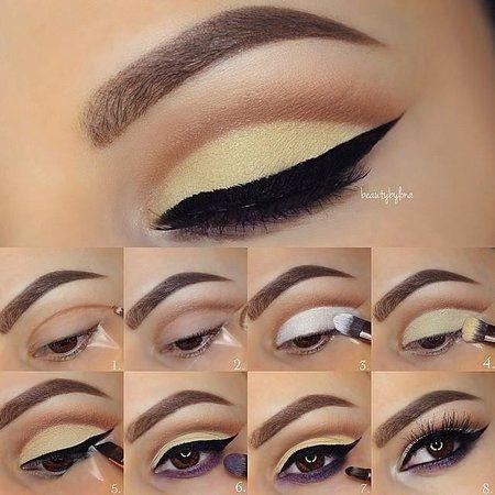 Beautiful neutral color tutorial #eyemakeup #eyes #cateye