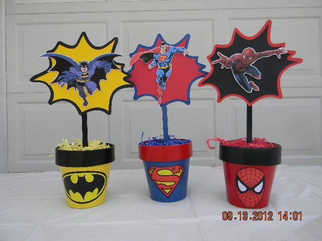 Superhero Centerpieces. $35.00, via Etsy.